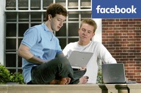 Facebook founder/programmer Mark Zuckerberg reading emails.