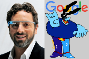 Sergey Brin, Google logo, Chief Blue Meanie.