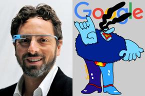 Sergey Brin, Google logo, Chief Blue Meanie.